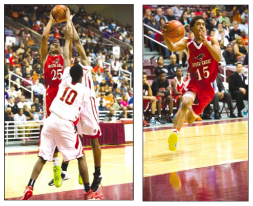 Pictured: North Shore Mustangs Jarrey Foster #25, left, and Marion Roy #15, right. (Submitted photos)