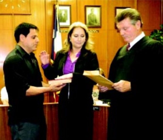 Esmeralda Moya swearing in