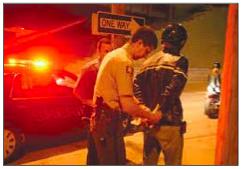 DWI arrest scene.
