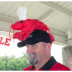 Nothing like a Lobster Hat to set the mood for a jovial time at the Rotary Fry & Boil.