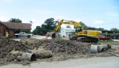 MUCH OF THE WORK WILL NOT BE SEEN, AS IT CONSISTS OF NEW STORM WATER SEWERS THAT ARE UNDERGROUND, CONNECTED TO MAJOR TRUNK LINES TO CARRY WATER AWAY FROM THE AREA AND MITIGATE FLOODING.