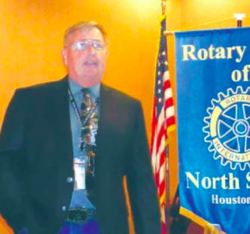 BILL WHEELER OF THE HARRIS COUNTY OFFICE OF EMERGENCY MANAGEMENT spoke to the North Shore Rotary on preparation of various emergencies, including Hurricanes.