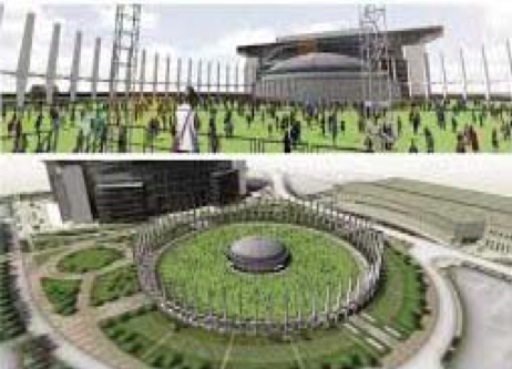 "The iconic ""DOME"" may be converted into a green area like the one shown in this diagram after County leaders recently expressed that they are open to consider a $66 million plan devised by the Houston Livestock Show and Rodeo and the NFL's Houston Texans to demolish the Astrodome and become a green area like Discovery Green in downtown. (Photo courtesy of Gensler)"
