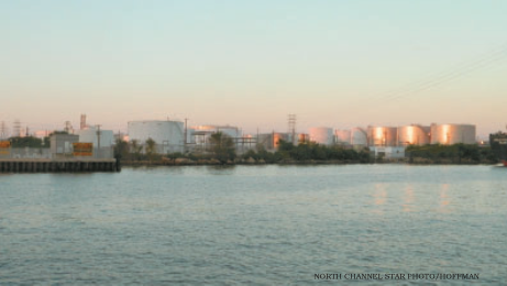 KINDER MORGAN maintains these oil storage tanks in Galena Park, and others in Pasadena, and has announced a major expansion of capacity of tanks and ship docks.