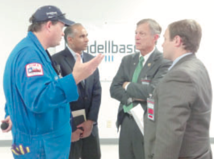 Congress Babin visits the LyondellBasell Channelview Complex last week. Left to right – Todd Monette, Channelview Site Manager; Bob Patel, LyondellBasell Chief Executive Officer; Rep. Brian Babin (R-TX); Kelly Waterman, Rep. Babin District Director.