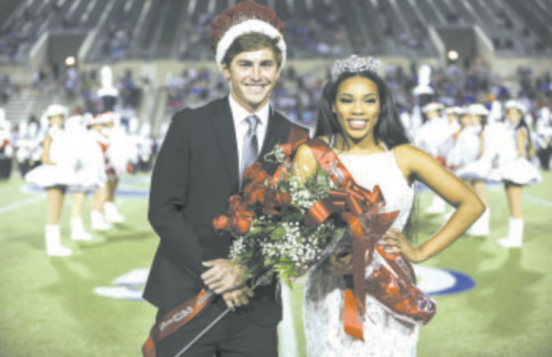 North Shore Homecoming King and Queen, Andrew Pouland and Chardon Mucker.