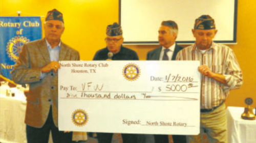 north shore rotary helps vfw