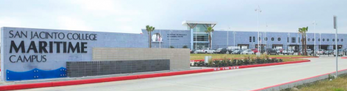 The San Jacinto College Maritime Technology and Training Center on the Maritime Campus is now open. It is located at 3700 Old State Highway 146 in La Porte, Texas. (Photo credit: Jeannie Peng-Armao)