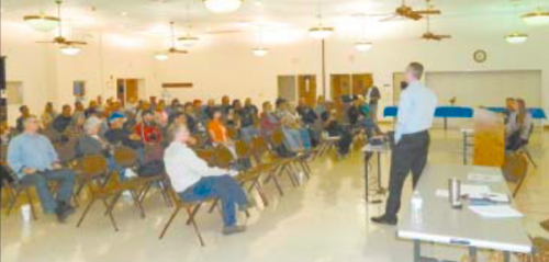 Almost 100 residents of property along the San Jacinto River turned out to hear two representatives from the Texas Parks and Wildlife, and Jackie Young of the San Jacinto River Coalition.