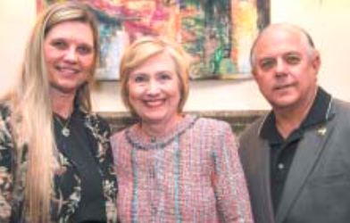 Linda Jamail, Nominee Hillary Clinton and Allan Jamail.