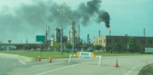 Last Monday, drivers could observed thick smoke and small particles coming out from Pasadena Refining in the 1100 block of Red Bluff. A shelter was in place but has been lifted since then.