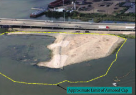 IN THE EPA PROPOSED PLAN, the North and South compounds would be remediated by dry excavation of the toxic wastes. There would be no wet dredging. This method contains the toxic wastes.