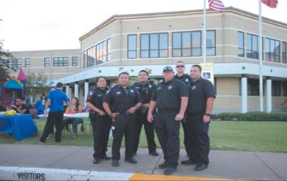 Galena Park Police Department, Deputies from Precinct 2 and Port of Houston Officers at NNO (National Night Out).