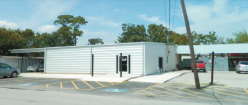The new metal building on Freeport Street is an addition to the North Channel Assistance Ministries main building. It still needs work to finish the interior offices and work areas.